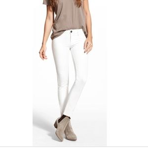 DL1961 angel mid rise skinny white jeans
